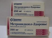 """""""Метронидазол"""" при молочнице: инструкция, эффективность"""